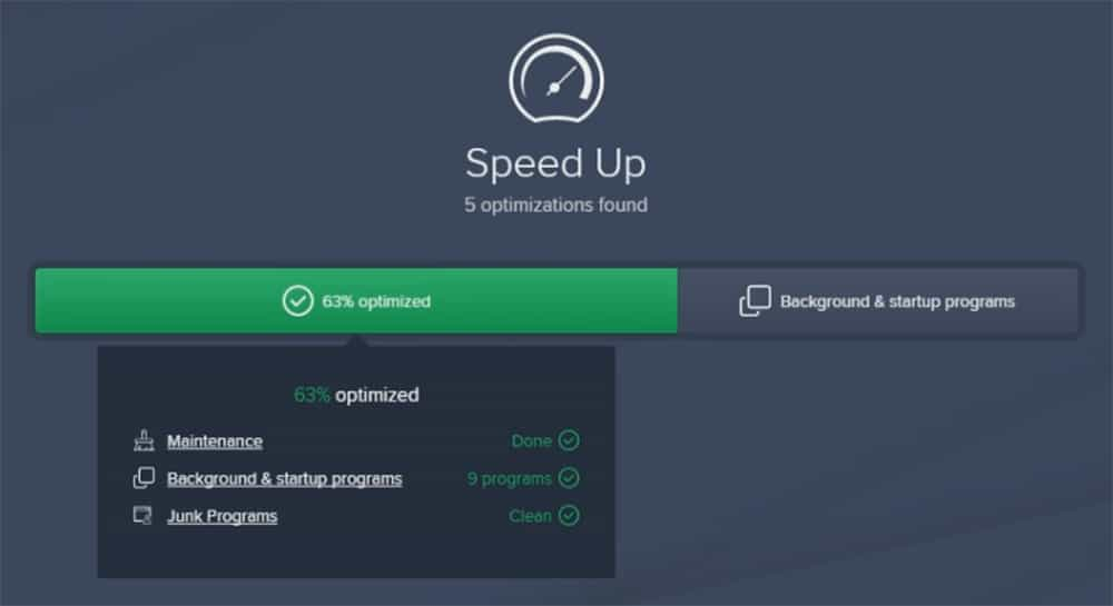 Avast Cleanup Speed Up Scan