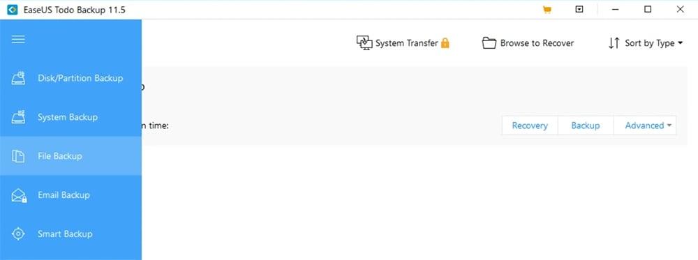 EaseUS Todo Backup interface