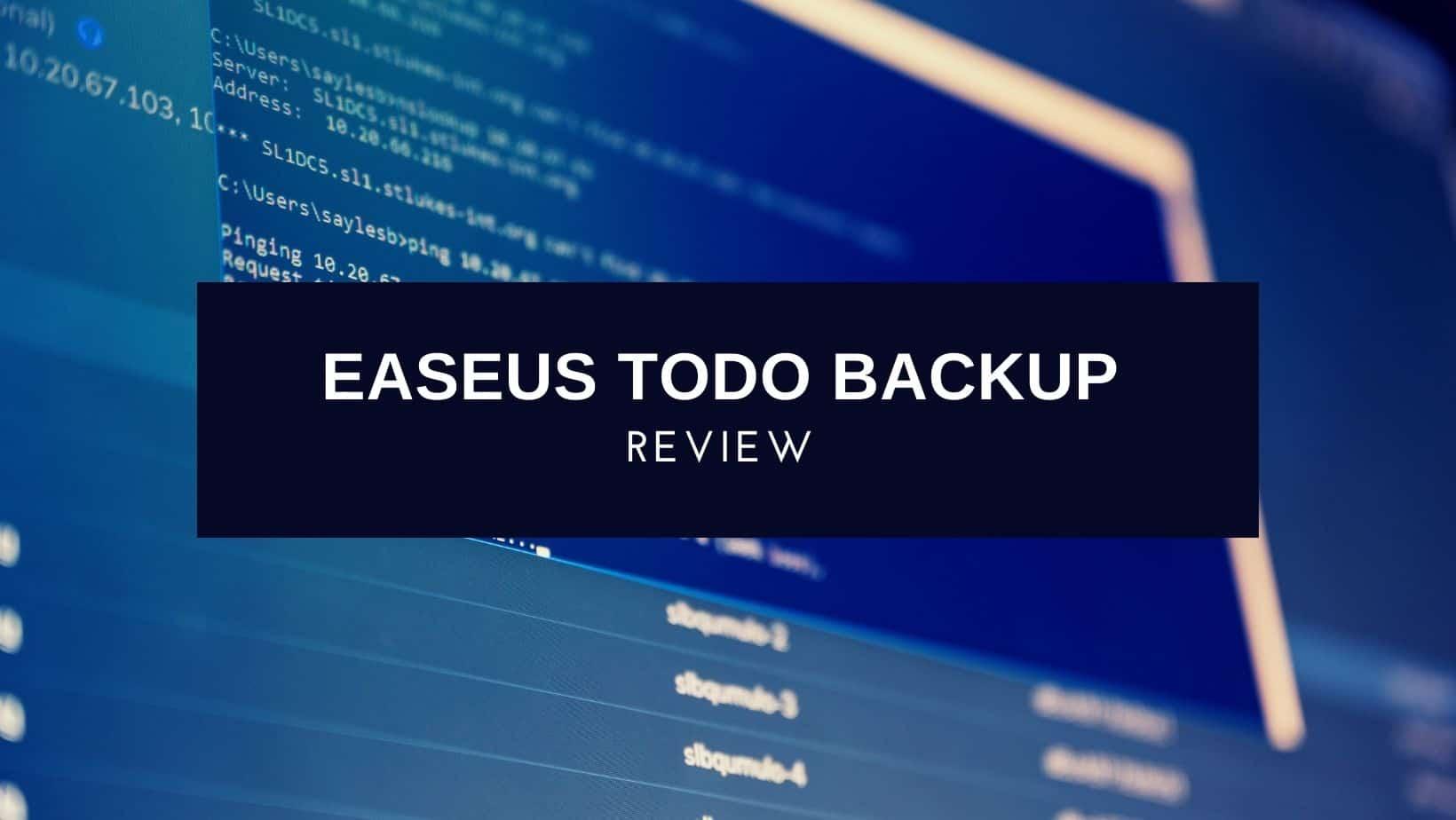 EaseUS Todo Backup Review
