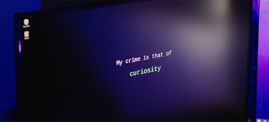 a hacker's screen