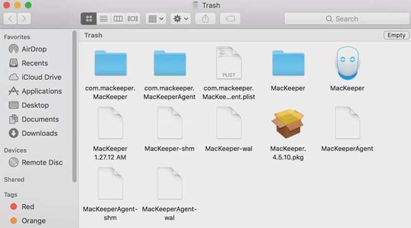 deleting MacKeeper from Mac