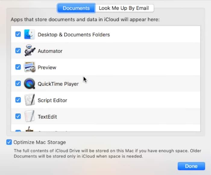 reducing iCloud file syncs