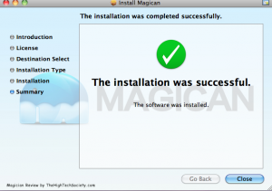 Magican mac app install screenshot