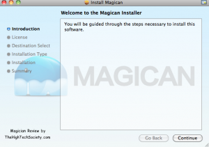 Magican mac app install screen