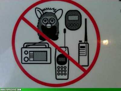 no furbies sign
