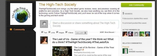 The high tech society on raptr