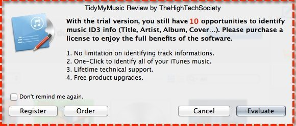Free trial TidyMyMusic