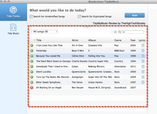 optional song view tmm software