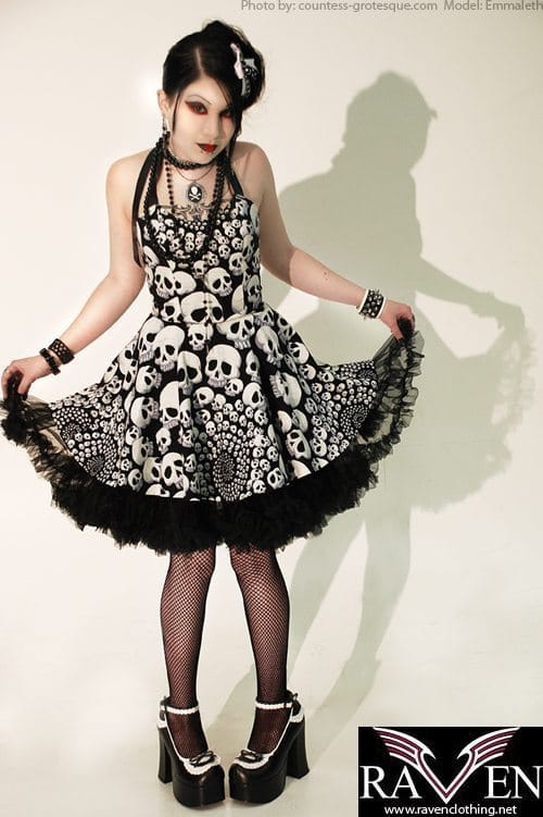 Rock Rebel Clothing - Sinful Wrapped Skull Roses Lace Up Fro