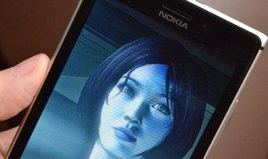 Cortana on smartphone