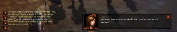 Diablo 3 dialogue