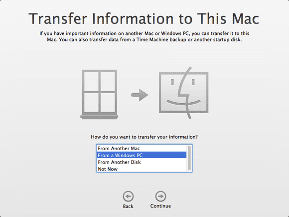transfer from windows to mac migration