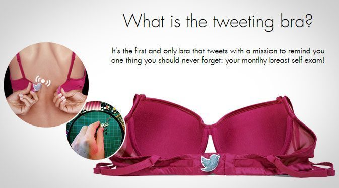 This Bra Tweets When Unclasped... Can You Guess Why?