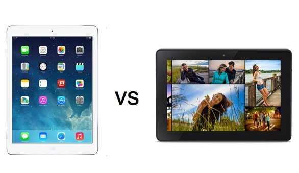 Kindle Fire vs iPad Air