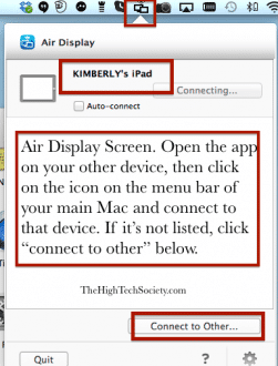 AirDisplay Connecting