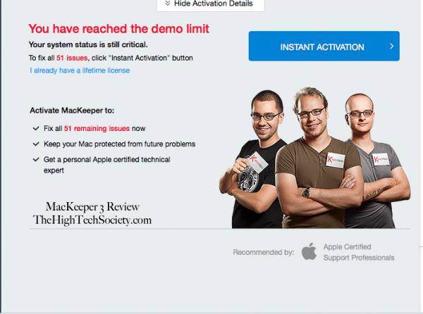 demo limit mackeeper