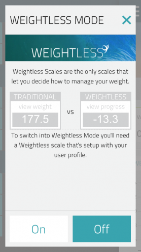 weightless scale
