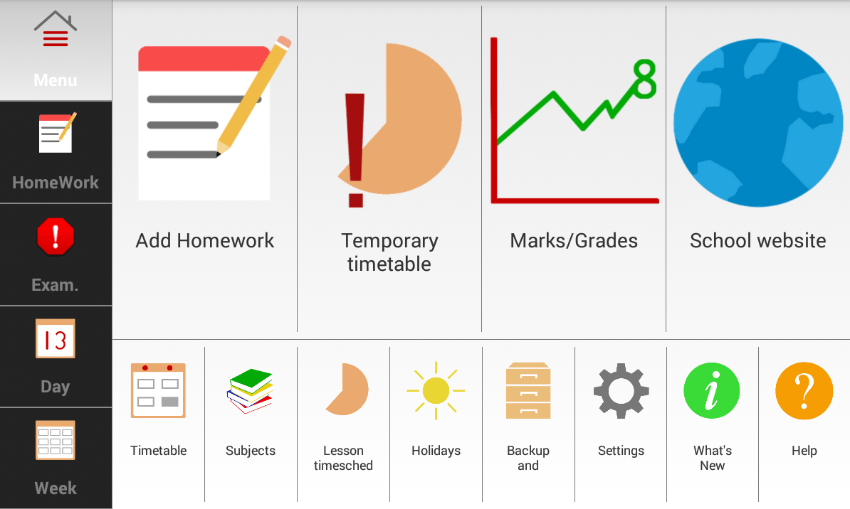 The Homework App: Home