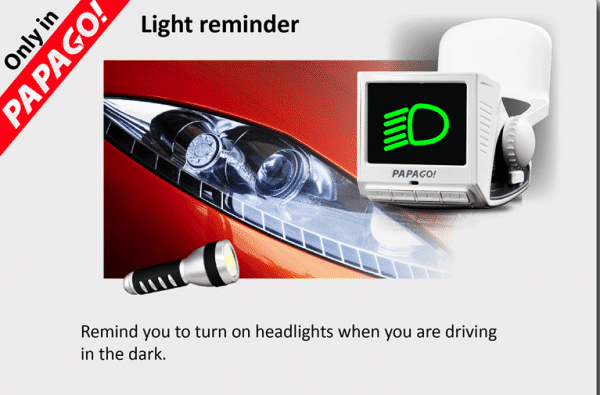 headlight reminder gosafe 110