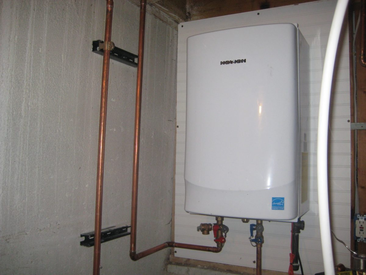 In Line Instant Hot Water : Pros and cons of tankless water heaters the high tech