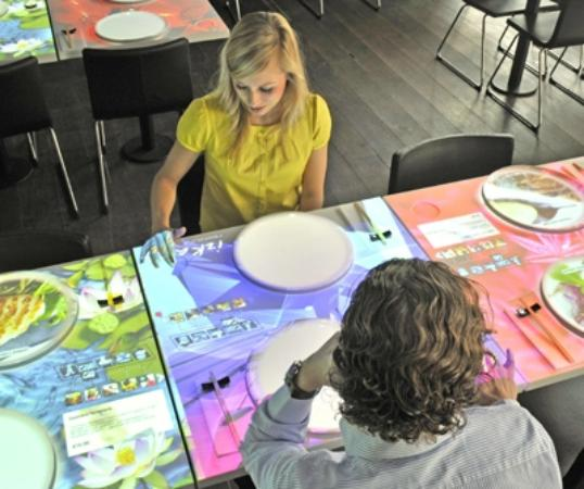 dining table with touchscreen