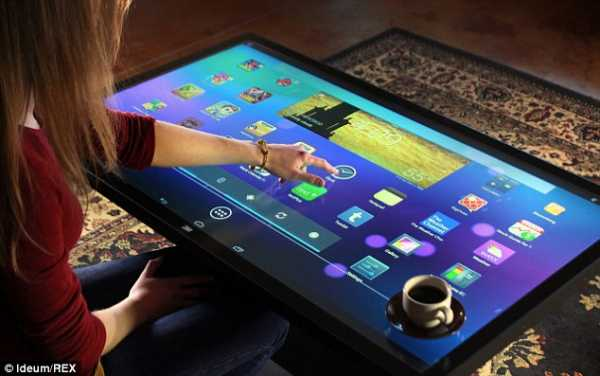 touchscreen tables and games
