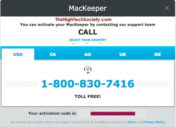 Must call to activate MacKeeper