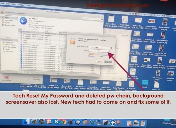 Password changed by remote MacKeeper tech