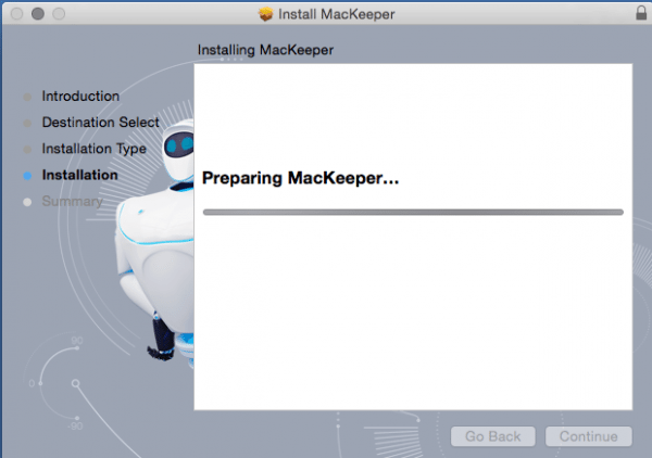 Preparing MacKeeper for installation