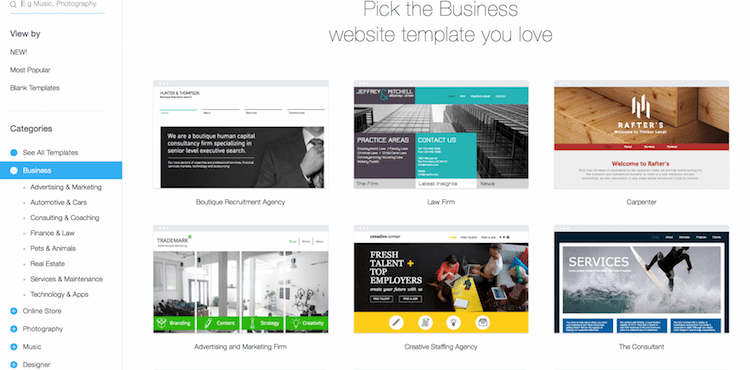 Wix free website builder review the high tech society for Wix templates for wordpress