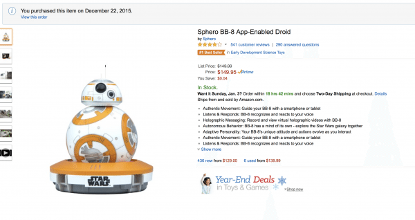 bb8 on amazon