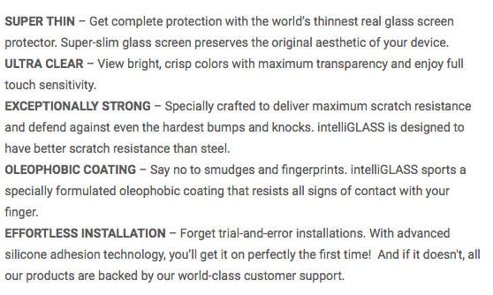 intelliGlass Features