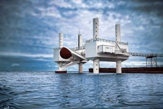 The Kinetic Power Station Creates Green Energy from Waves