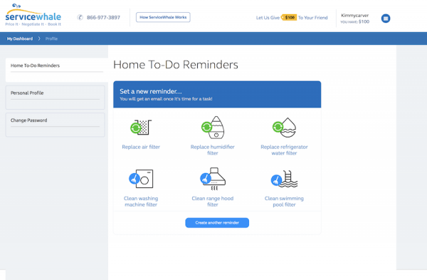 servicewhale reminders