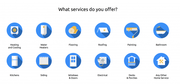 services offered in contractor software