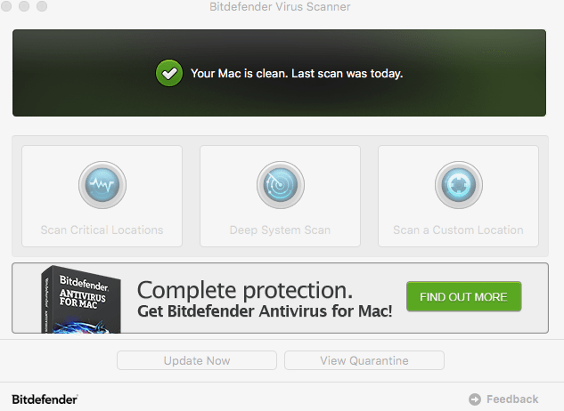 Bit defender, review of Bitdefender, Bitdefender for Mac, Bitdefender Free for Mac, Bitdefender Virus Scanner for Mac