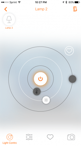lightify app control smart bulbs