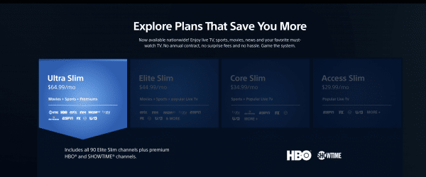 ps vue pricing play station