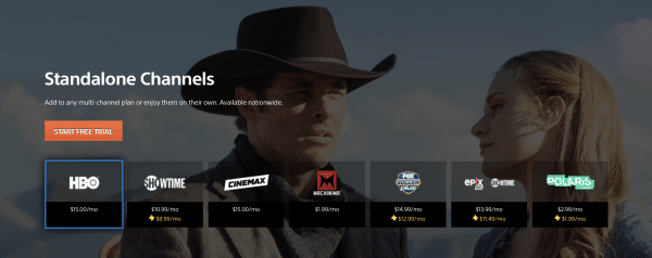 ps vue stand alone channels