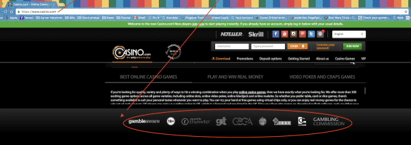 casino site logos trustworthy