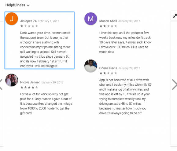 google play mileup reviews