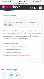 siren song alarm complaints