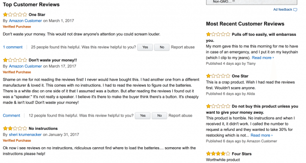siren song reviews on amazon