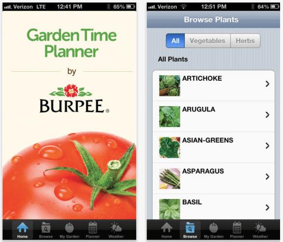 Garden Time Planner app