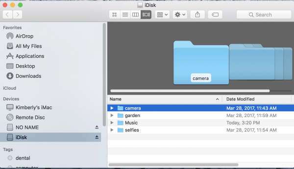 idisk screen on mac