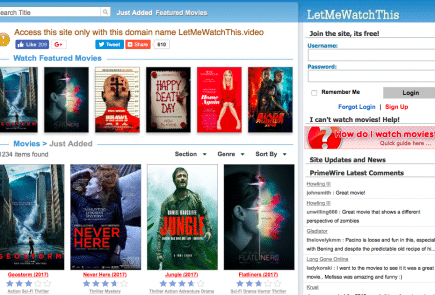 LetMeWatchThis Movie Streaming Site