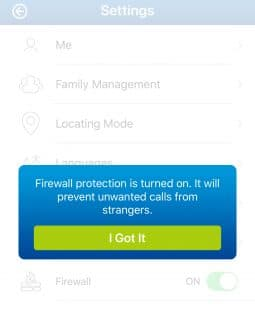firewall setting on ticktalk