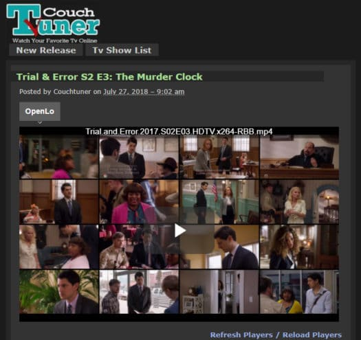 Couchtuner Free Tv Streaming Site Review 2018