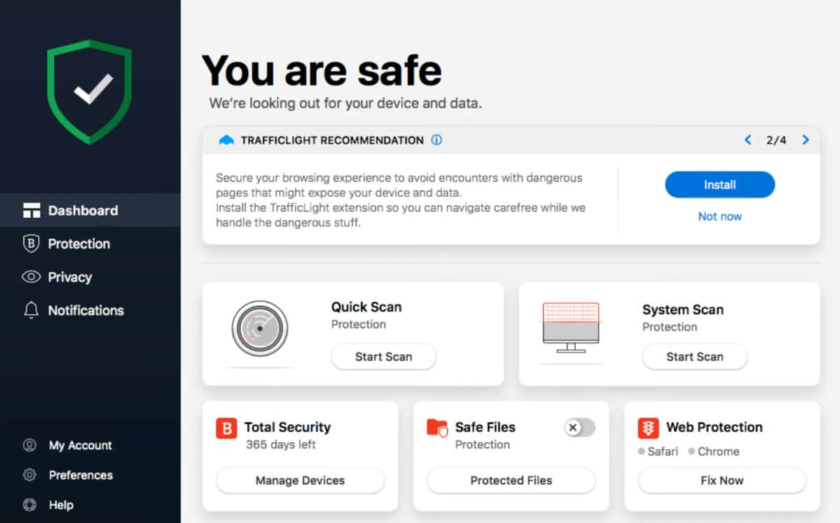 Bitdefender screenshot