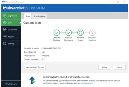Malwarebytes screenshot
